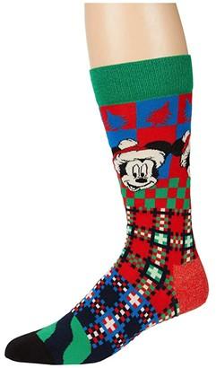Happy Socks Disney Holiday 'Tis The Season Sock (Light Blue) Men's Crew Cut Socks Shoes