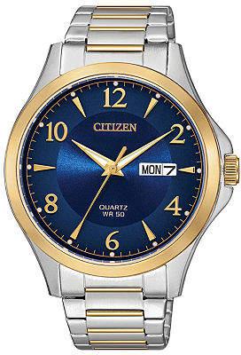 Citizen Quartz Mens Two Tone Stainless Steel Bracelet Watch-Bf2005-54l Family