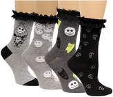 Disney Women's 4-Pk. The Nightmare Before Christmas Lace-Cuff Socks