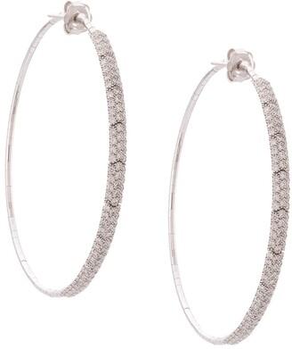 Mattia Cielo 18kt white gold Rugiada diamond large hoops