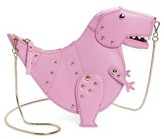 Kate Spade Whimsies T-Rex Leather Crossbody Bag - Pink