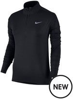 Nike Running Element Half Zip Top - Black