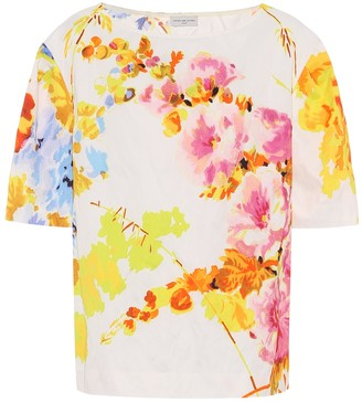 Dries Van Noten Floral jacquard top