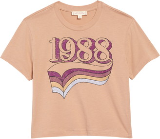 Walking on Sunshine 1988 Crop Graphic Tee