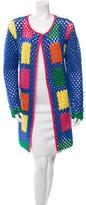 Mira Mikati Wool Crochet Coat w/ Tags
