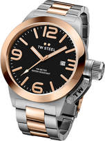 TW Steel CB131 Canteen rose gold PVD-plated and stainless steel watch