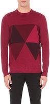 Armani Collezioni Intarsia-knit Wool Jumper