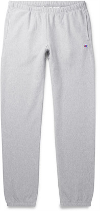 Champion Slim-Fit Fleece-Back Cotton-Blend Jersey Sweatpants