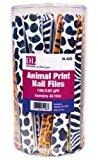 Burmax Dl Pro Glitter Animal Print Nail File Display, 48 Count