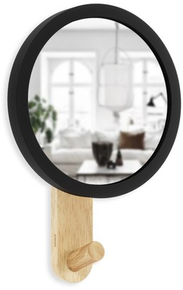 Umbra Hub Mirror With Hook - Black/Natural