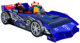 Blue F1 Super Charged Racing Car Bed with Drawer