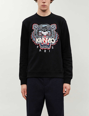 Kenzo Tiger relaxed-fit cotton-jersey sweatshirt