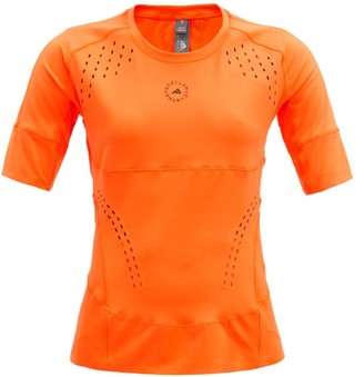 adidas by Stella McCartney Truepurpose Cutout Stretch-jersey Top - Orange