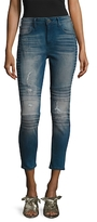 True Religion Halle Super Skinny Fit Motorcycle Jeans