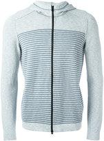 Stone Island striped logo zip hoodie