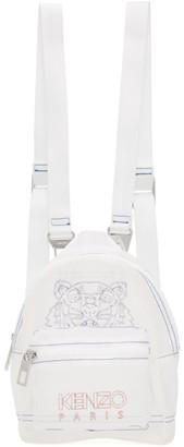 Kenzo White Mini Ripstop Kampus Backpack