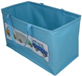 JVL Boy Kids Folding Toy Storage Bag with Handles, Car Design - Blue