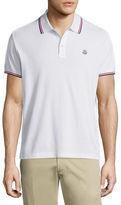 Moncler Tipped Short-Sleeve Pique Polo Shirt