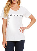 Heritage John A. Brown Logo Tee