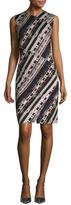 Carven Jersey Print Sheath Dress
