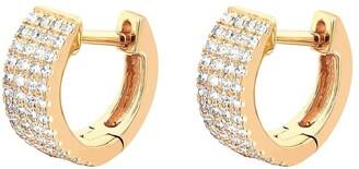 Ef Collection 14kt Yellow Gold Diamond Jumbo Huggies