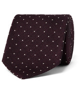 Drake's - 8cm Polka-dot Woven Silk Tie