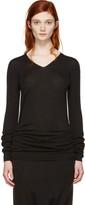 Rick Owens Black V-Neck Sweater