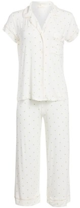 Eberjey Giving Palm 2-Piece Cropped Pajama Set