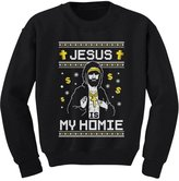 TeeStars - Jesus Is My Homie Ugly Christmas Sweater Youth Kids Sweatshirt