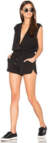 maven west Draped Romper in Black. - size XS (also in )