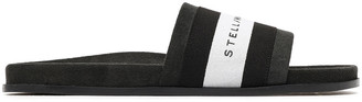 Stella McCartney Embroidered Twill-paneled Faux Suede Slides