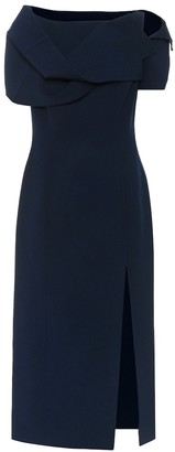 Oscar de la Renta Stretch-wool midi dress