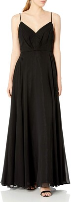 Nicole Miller Women's Sweetheart Spaghetti Strap Fit and Flare Full Skirt Gown