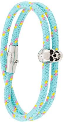 Alexander McQueen Skull Detail Braided Bracelet