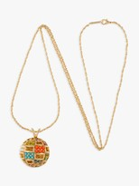 Susan Caplan Vintage D'Orlan 22ct Gold Plated Lucite and Swarovski Crystal Rope Chain and Ball Pendant, Gold/Multi