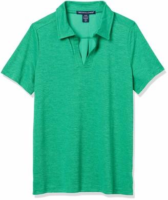 D & Jones Women's Crownlux Performance Melange Short Sleeve Polo Shirt