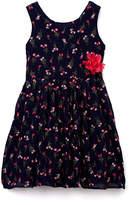 Speechless Navy & Pink Floral Sleeveless Dress