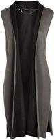 August Silk Gray & Black Double-Face Long Vest