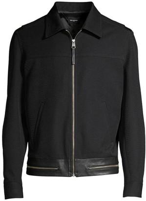 The Kooples Collared Zip-Up Jacket