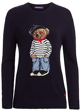 Ralph Lauren Women's Marseille Bear Crewneck Sweater