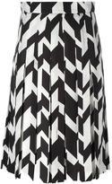 Salvatore Ferragamo geometric pleated skirt