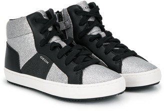 Geox Kids Two-Tone Glittery Sneakers