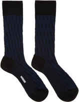 Missoni Blue Cable Knit Print Socks