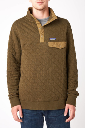 Patagonia Organic Cotton Quilted Snap T Fleece Pullover Olive S