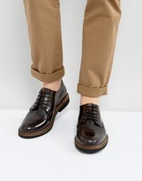 Ben Sherman Gibson Derby Shoes In Hi Shine Leather