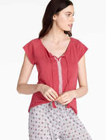 Lucky Brand Embroidered Jersey Top