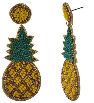 Bijoux Bar Pineapple Drop Earrings