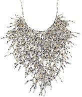 "Himalayan Gems Glass Bead ""Branch"" Bib 17-1/4"" Necklace"