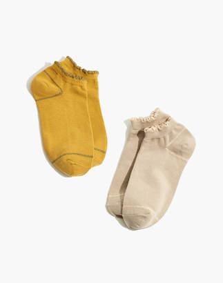 Madewell Two-Pack Ruffled Shimmer Anklet Socks