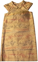 Burberry Gold Silk Dress